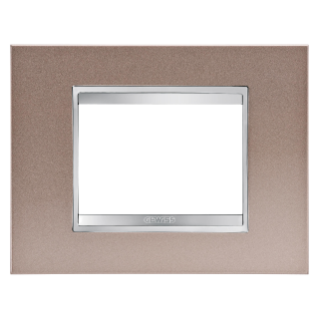 PLAQUE LUX RECTANGULAIRE - EN MÉTAL - 3 MODULES - BRONZE PERLÉ - CHORUS