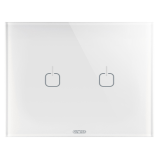 ICE TOUCH PLATE - GLASS - 2 SYMBOLS - WHITE - CHORUS