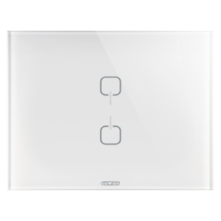 ICE TOUCH PLATE KNX - GLASS - 2 SYMBOLS - WHITE - CHORUS