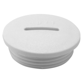 CLOSURE CAP - NYLON - M12 PITCH - GREY RAL 7035 - IP65
