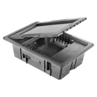 UNDERFLOOR OUTLET BOX - WITH HOLLOW COVER - 10 MODULES SYSTEM
