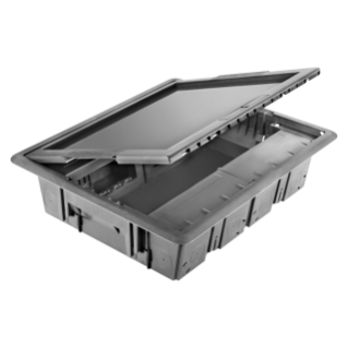 UNDERFLOOR OUTLET BOX - WITH HOLLOW COVER - 20 MODULES SYSTEM
