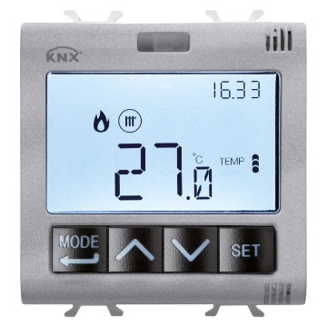 KNX thermostats with humidity management