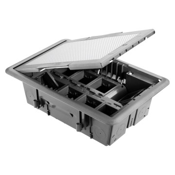 Underfloor outlet boxes with stainless steel lid - Glow wire test 850° C
