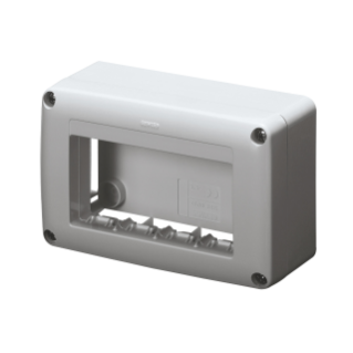 SELF-SUPPORTING DEVICE BOX  FOR SYSTEM DEVICE - SKIRT AND FRAMNE TRUNKING - 4 GANG - SYSTEM RANGE - ANTHRACITE RAL7021