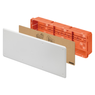 JUNCTION AND CONNECTION BOX - FOR BRICK WALLS - WITH DIN RAIL - DIMENSIONS 480X160X75 - WHITE LID RAL9016