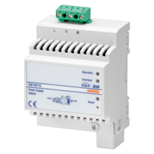 SELF-PROTECTED ELECTRONIC POWER SUPPLY 220-240V - 50/60 Hz - IP20 - 640mA - DIN RAIL - 4 MODULES DIN