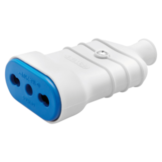PORTABLE SOCKET-OUTLET - ITALIAN STANDARD - 2P+E 10/16A 250V ac - TYPE P17 DUAL AMPERAGE - WHITE