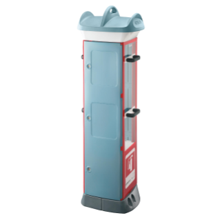 QMC63 - FIRE FIGHTING - COMPACT 3 MODULES - 9KG EXTINGUISHER FITTEDE - LIGHT BLUE