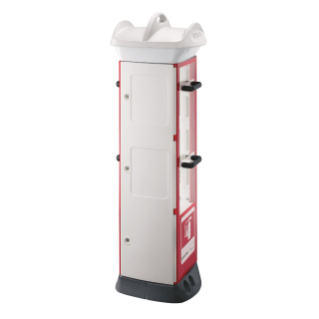 QMC63 - FIRE FIGHTING - COMPACT 3 MODULES - 9KG EXTINGUISHER FITTEDE - WHITE