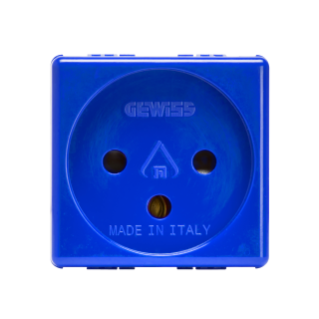 ISRAELI STANDARD SOCKET-OUTLET 250V ac - FOR SPECIAL REQUIREMENTS - 2P+E 16A - 2 MODULES - BLUE - SYSTEM