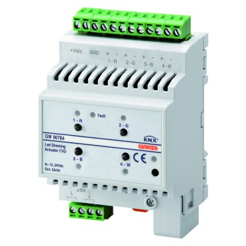 KNX dimmer actuator for LED - IP20 - DIN rail mounting