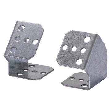 Pair of supports for horizontal terminal block