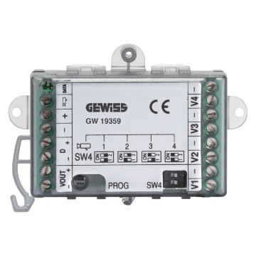 Video selector for IP extension systems - from DIN rail