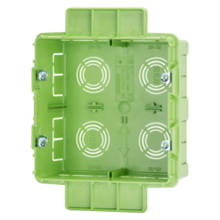 HIGH CAPACITY BOX FOR DOMESTIC - BIG BOX - FOR LIGHTWEIGHT WALL - HALOGEN FREE - 8 GANG (4+4) - 131X129X53