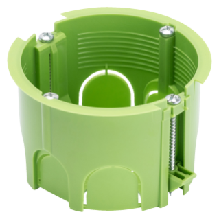 GREEN WALL - ROUND FLUSH-MOUNTING BOXES - FOR PLASTEBOARD AND MOBILE WALLS - Ï 65x45