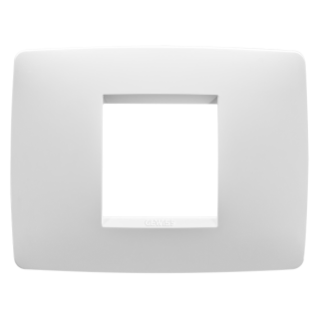 ONE PLATE - IN TECHNOPOLYMER - 2 GANG - MILK WHITE - CHORUS