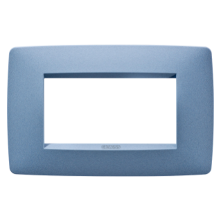 ONE PLATE - IN PAINTED TECHNOPOLYMER - 4 GANG - SEA BLUE - CHORUS