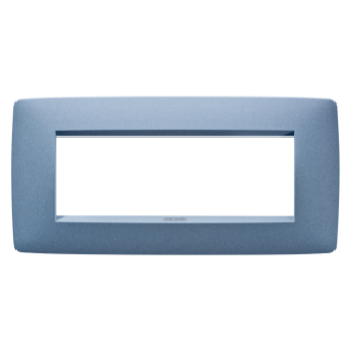 ONE PLATE - IN PAINTED TECHNOPOLYMER - 6 GANG - SEA BLUE - CHORUS