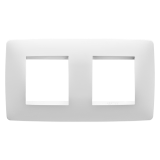 ONE INTERNATIONAL PLATE - IN TECHNOPOLYMER - 2+2 GANG HORIZONTAL - MILK WHITE - CHORUS