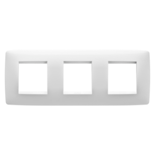 ONE INTERNATIONAL PLATE - IN TECHNOPOLYMER - 2+2+2 GANG HORIZONTAL - MILK WHITE - CHORUS