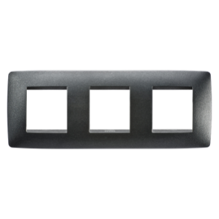 ONE INTERNATIONAL PLATE - IN PAINTED TECHNOPOLYMER - 2+2+2 GANG HORIZONTAL - SLATE - CHORUS