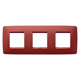 ONE INTERNATIONAL PLATE - IN PAINTED TECHNOPOLYMER - 2+2+2 GANG HORIZONTAL - RUBY - CHORUS