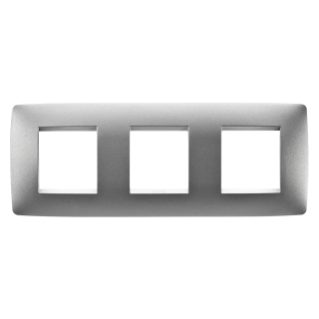ONE INTERNATIONAL PLATE - IN PAINTED TECHNOPOLYMER - 2+2+2 GANG HORIZONTAL - TITANIUM - CHORUS