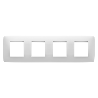 ONE INTERNATIONAL PLATE - IN TECHNOPOLYMER - 2+2+2+2 GANG HORIZONTAL - MILK WHITE - CHORUS