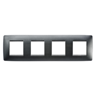 ONE INTERNATIONAL PLATE - IN PAINTED TECHNOPOLYMER - 2+2+2+2 GANG HORIZONTAL - SLATE - CHORUS