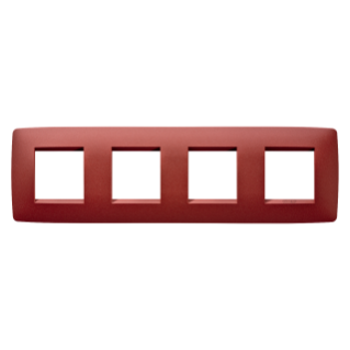 ONE INTERNATIONAL PLATE - IN PAINTED TECHNOPOLYMER - 2+2+2+2 GANG HORIZONTAL - RUBY - CHORUS