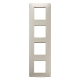 ONE INTERNATIONAL PLATE - IN TECHNOPOLYMER - 2+2+2+2 GANG VERTICAL - IVORY - CHORUS