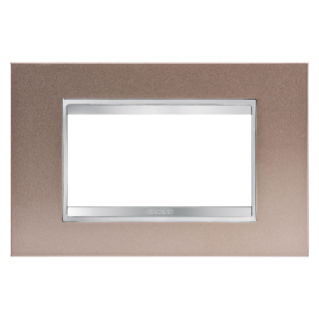 LUX PLATE - METAL - 4 GANG - PEARLY BRONZE - CHORUS