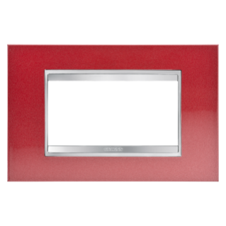 LUX PLATE - METAL - 4 GANG - GLAMOUR RED - CHORUS