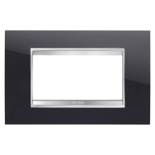 PLAQUE LUX RECTANGULAIRE - EN TECHNOPOLYMÈRE - 4 MODULES - NOIR TONER - CHORUS