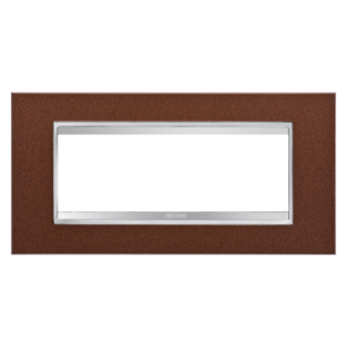 LUX PLATE - METAL - 6 GANG - OXIDISED FINISH - CHORUS