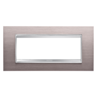 PLAQUE LUX RECTANGULAIRE - EN MÉTAL - 6 MODULES - ALUMINIUM BROSSÉ - CHORUS