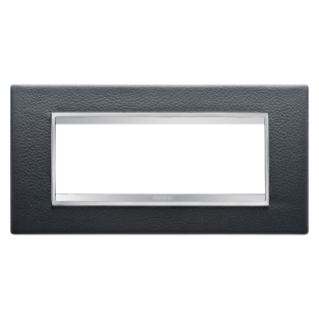 PLAQUE LUX RECTANGULAIRE - CUIR - 6 MODULES - NOIR - CHORUS