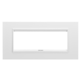 PLAQUE LUX RECTANGULAIRE - EN MÉTAL - 6 MODULES - BLANC MONOCHROME - CHORUS