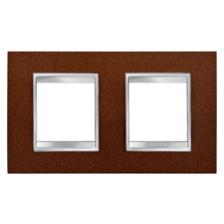 LUX INTERNATIONAL PLATE - IN METAL - 2+2 GANG HORIZONTAL - OXIDISED FINISH - CHORUS