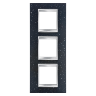 LUX INTERNATIONAL PLATE - IN TECHNOPOLYMER STONE FINISHING - 2+2+2 GANG VERTICAL - LAVA - CHORUS
