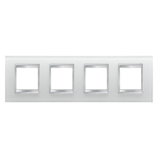 LUX INTERNATIONAL PLATE - IN GLASS - 2+2+2+2 GANG HORIZONTAL - ICE - CHORUS