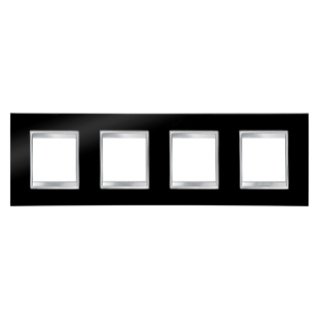 LUX INTERNATIONAL PLATE - IN TECHNOPOLYMER - 2+2+2+2 GANG HORIZONTAL - TONER BLACK - CHORUS