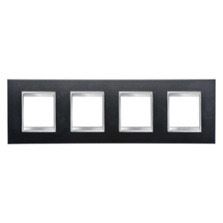 LUX INTERNATIONAL PLATE - IN PAINTED TECHNOPOLYMER - 2+2+2+2 GANG HORIZONTAL - SLATE - CHORUS