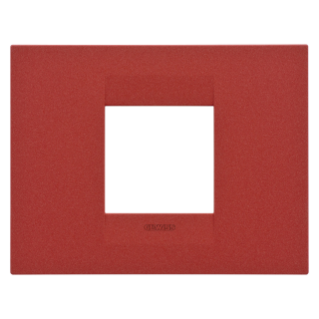 GEO PLATE - IN VARNISHED TECHNOPOLYMER - 2 GANG - RUBY - CHORUS