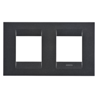 GEO INTERNATIONAL PLATE - IN PAINTED TECHNOPOLYMER - 2+2 GANG HORIZONTAL - SLATE - CHORUS