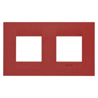GEO INTERNATIONAL PLATE - IN PAINTED TECHNOPOLYMER - 2+2 GANG HORIZONTAL - RUBY - CHORUS