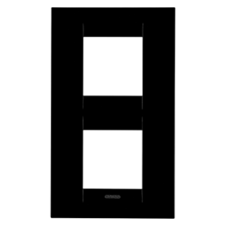 GEO INTERNATIONAL PLATE - IN TECHNOPOLYMER - 2+2 GANG VERTICAL - TGEOR BLACK- CHORUS