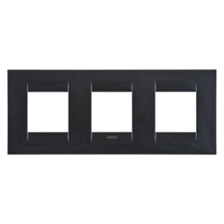 GEO INTERNATIONAL PLATE - IN PAINTED TECHNOPOLYMER - 2+2+2 GANG HORIZONTAL - SLATE  - CHORUS