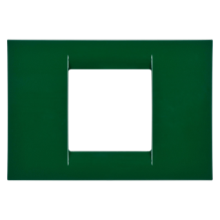 VIRNA PLATE - IN TECHNOPOLYMER GLOSS FINISHING - 2 GANG - RACING GREEN - SYSTEM